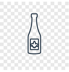 wine concept linear icon isolated on transparent vector image