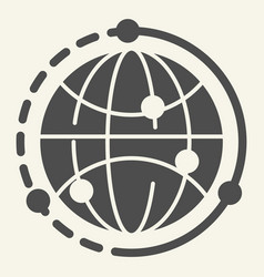 world solid icon earth vector image
