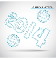 2014 3d vector image