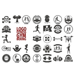 Fitnes GYM boxing logo vector image vector image
