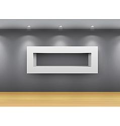 interior gallery shelf vector image vector image