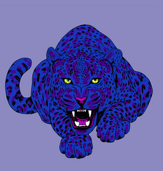 leopard face tattoo print vector image vector image