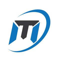 m modern business letter logo design vector image vector image