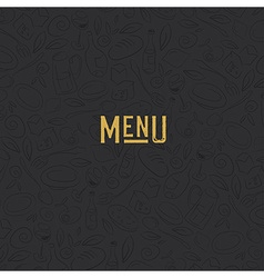 Menu design template Restaurant Seamless Pattern vector image