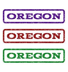 oregon watermark stamp vector image