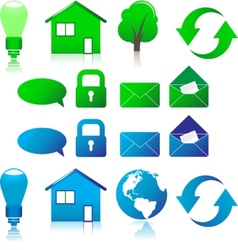 Set of ecological icons vector image