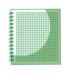 shadow green notebook cartoon vector image vector image