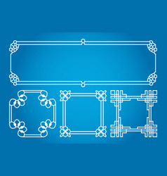 square and rectangle asian korean chinese vector image vector image