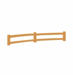 Wooden fence at ranch icon cartoon style vector image