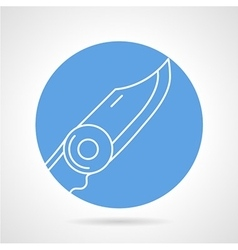Penknife round icon vector image