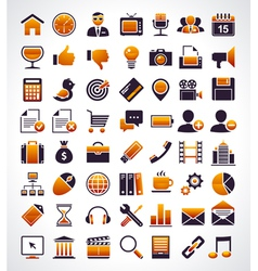 Simple universal web icons vector image