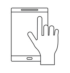 smartphone device mobile touchscreen vector image