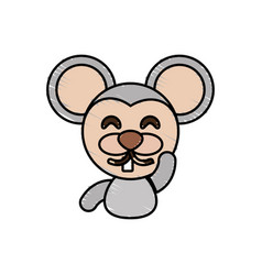 draw mouse animal comic vector image