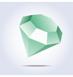 Emerald icon on gray background vector image