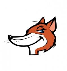 fox mascot vector image vector image