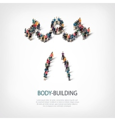 people sports body-building vector image