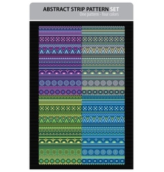 Abstract strip pattern set vector image