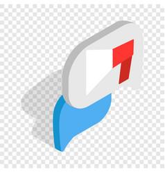 bubble speech isometric icon vector image
