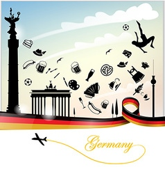 Germany background with flag vector image vector image
