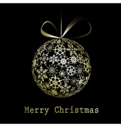 golden christmas greeting card vector image