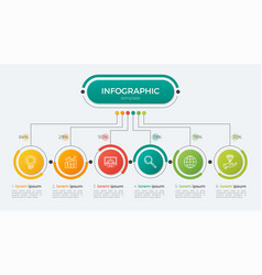 presentation infographic template 6 options vector image vector image