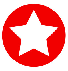 Rounded star flat icon vector