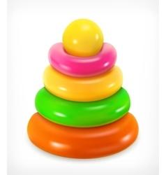 Toy pyramid icon vector image vector image