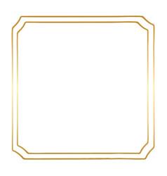 a golden square vintage style border frame vector image