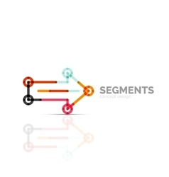 Arrow icon logo Company branding element vector image