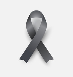 black awareness ribbon - concept melanoma symbol vector image
