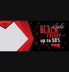 Black friday facebook cover design vector