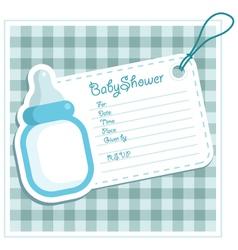 Blue bottle bashower card vector