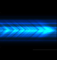 blue light arrow speed technology direction black vector image