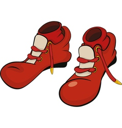 Boots for the clown vector image