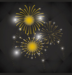 bright fireworks cartoon vector image