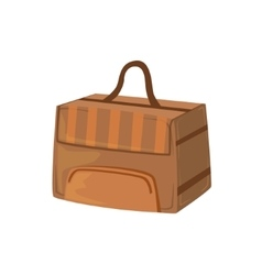 Brown Square Box Like Handbag Item From Baggage vector