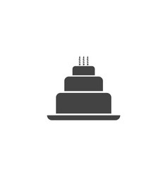 cake sign icon design template vector image