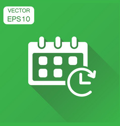Calendar icon business concept reminder agenda vector