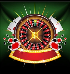 casino composition vector image