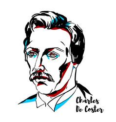 Charles de coster portrait vector