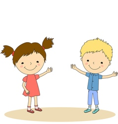 children invite 1 vector image