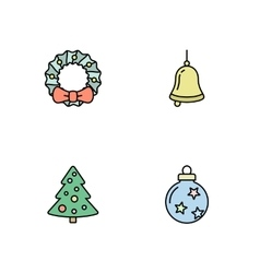 Christmas icons set vector