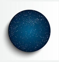 Circle frame Starry night sky vector