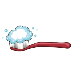 dental brush isolated icon vector image