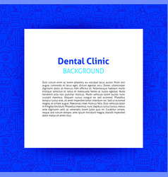 dental clinic paper template vector image