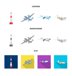 Design of plane and transport icon vector