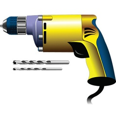 Electricians drill vector image