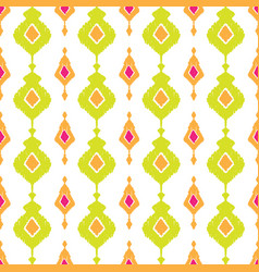 Ethnic ikat seamless pattern vector