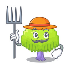 Farmer isolated weeping willow on the mascot vector