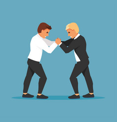 fighting businessmen vector image